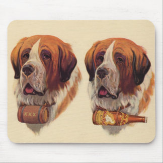 Mousepad cães do St. Bernards do gêmeo idêntico