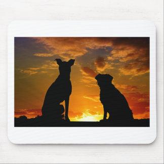 Mousepad Cães no por do sol