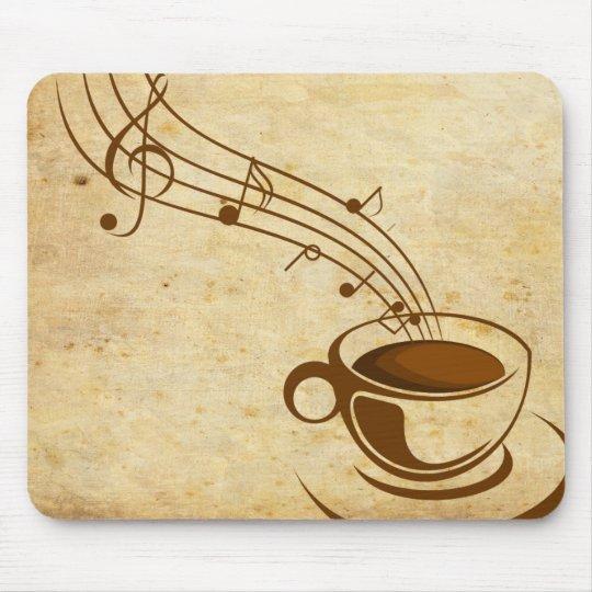 Mousepad cafe com musica