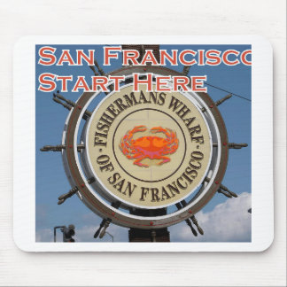 Mousepad Cais San Francisco Califórnia EUA CA de Fishermans