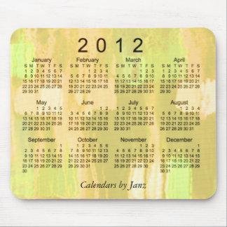 Mousepad Calendário 2012 abstrato