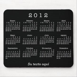 Mousepad Calendario 2012 Españoles