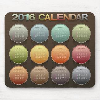 Mousepad Calendário 2016 colorido