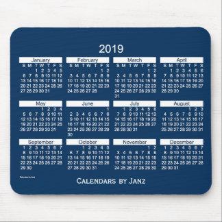 Mousepad Calendário corajoso azul da caixa de 2019 polícias