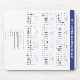 Mousepad Calendário da expiração da opção da equidade de