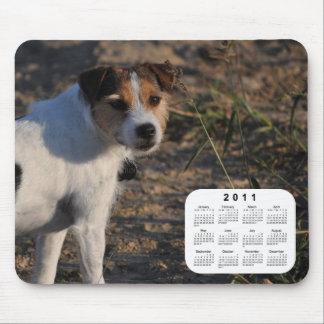 Mousepad Calendário de 2011 cães - Parson Jack Russell
