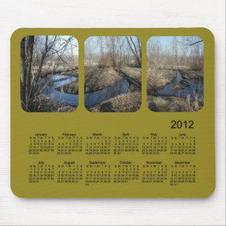 Mousepad Calendário de 2012 paisagens