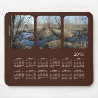 Mousepad Calendário de 2013 paisagens