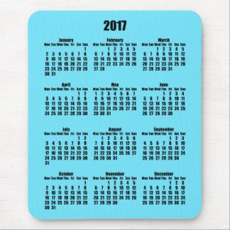Mousepad Calendário preto e claro do Azure 2017