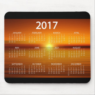 Mousepad Calendários 2017 do por do sol