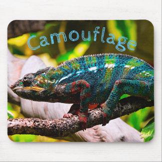 Mousepad Camaleão colorido