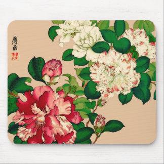 Mousepad Camélias do japonês do vintage. Profundamente -