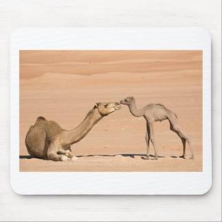 Mousepad Camelo do bebê e sua mãe