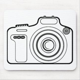 Mousepad Câmera preto e branco