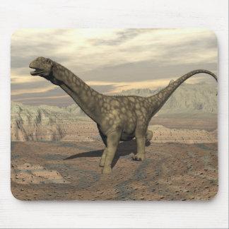Mousepad Caminhada do dinossauro do Argentinosaurus - 3D