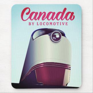 Mousepad Canadá pelo poster locomotivo do trem dos anos 50