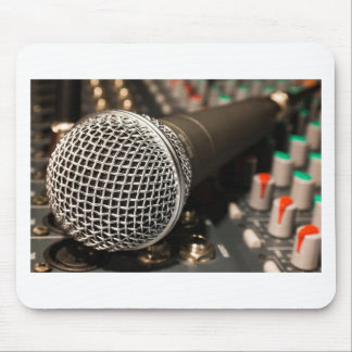 Mousepad Canto do cabo do microfone do cabo do misturador