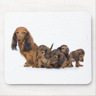 Mousepad Cão bonito com filhotes de cachorro