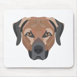 Mousepad Cão Brown Labrador da ilustração