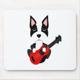 Mousepad Cão de Boston Terrier do divertimento que joga a