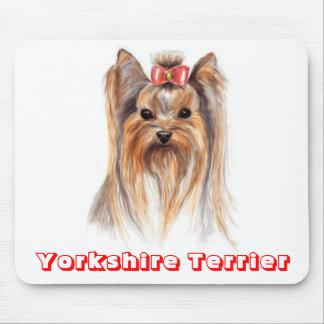 Mousepad Cão de filhote de cachorro do yorkshire terrier do