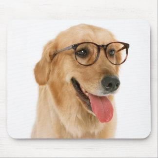 Mousepad Cão de filhote de cachorro estudioso do golden