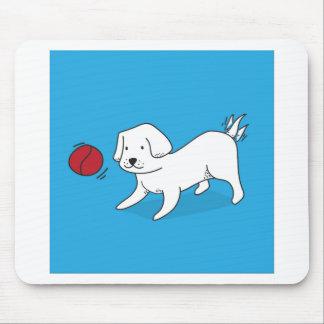 Mousepad Cão que joga com uma bola