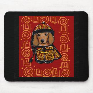 Mousepad Cão vermelho do Dachshund do ano