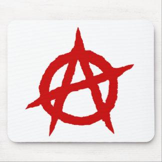 Mousepad Caos vermelho p do sinal da cultura da música do