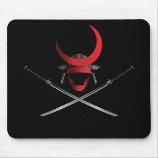 Mousepad Capacete e espadas do samurai