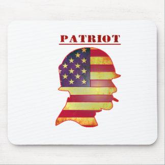 Mousepad Capacete patriótico das forças armadas da bandeira