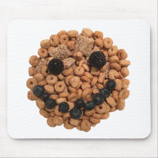 Mousepad Cara de sorriso bonito da fruta e do cereal