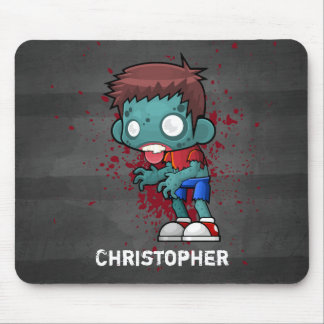 Mousepad Cara legal do zombi com sangue/Splatter da pintura