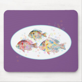 Mousepad Carpas coloridas