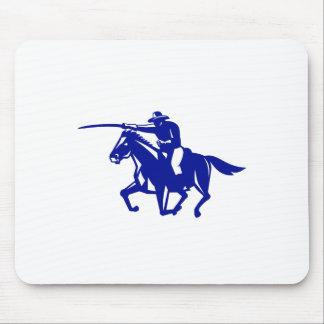 Mousepad Carregamento americano da cavalaria retro