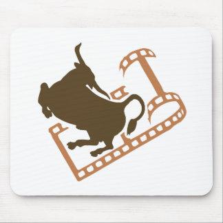 Mousepad Carretel de filme Bucking de Bull