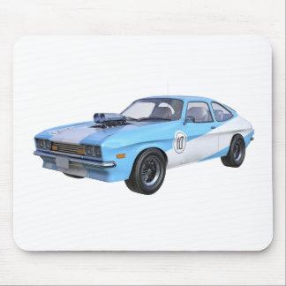 Mousepad carro do músculo dos anos 70 em azul e em branco