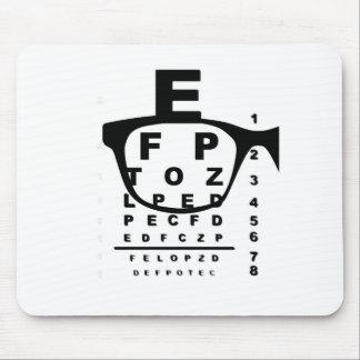 Mousepad Carta de teste do olho de Blurr