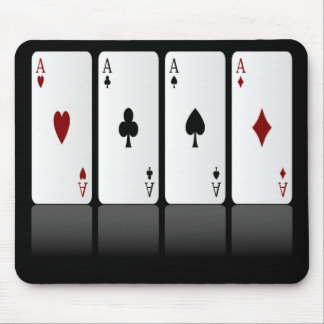 Mousepad Cartões de jogo Mousepad, quatro áss