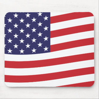 Mousepad Casa de ondulação da bandeira dos EUA da bandeira