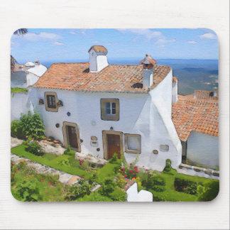 Mousepad Casa mediterrânea da aguarela