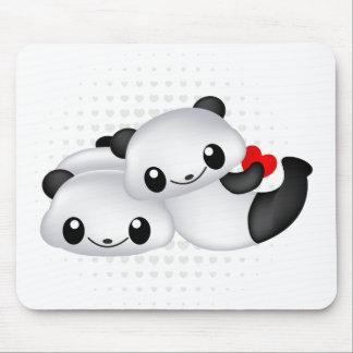 Mousepad Casal bonito da panda