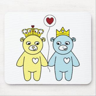 Mousepad casal do urso de ursinho