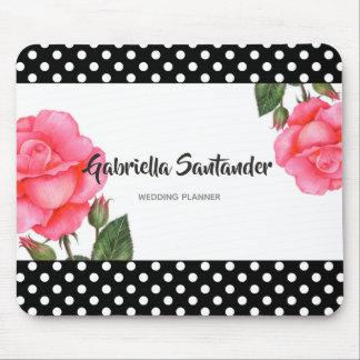 Mousepad Casamento floral botânico da arte do rosa do rosa
