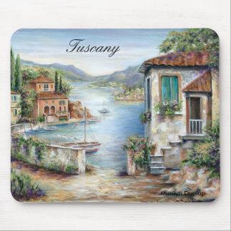 Mousepad Casas de campo de Tuscan pelo lago
