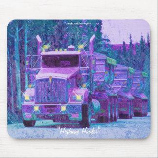 Mousepad Cascalho que transporta a estrada do caminhão que