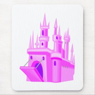 Mousepad Castelo cor-de-rosa do casamento do conto de fadas