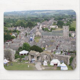 Mousepad Castelo de Corfe, Dorset, Inglaterra