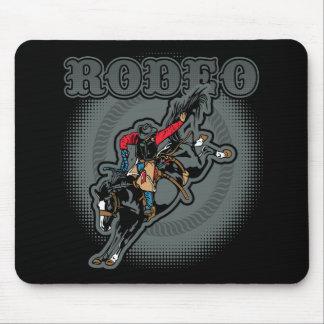 Mousepad Cavaleiro em pêlo do Bronc do rodeio