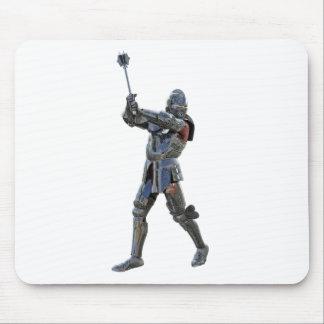 Mousepad Cavaleiro que anda à direita com mace